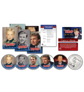 DONALD TRUMP 45th President of the United States 10 Piece * Life & Times * Ultimate U.S. Coin & Trading Card Collection