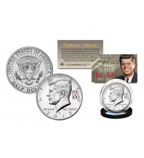 2017 Kennedy U.S Half Dollar Coin CENTENNIAL SPECIAL RELEASE JFK100 PRIVY MARK - D MINT