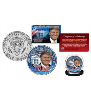 DONALD J. TRUMP 45th President of the United States Official JFK Kennedy Half Dollar U.S. Coin WHITE HOUSE
