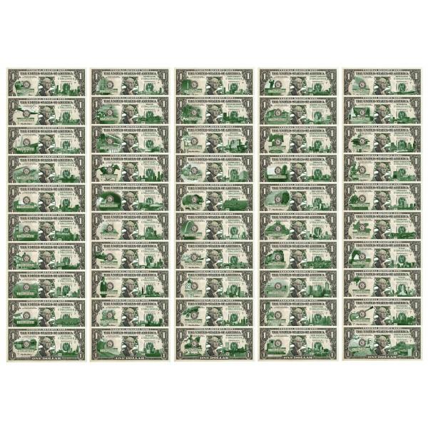 Set Of 50 State 1 Bills Genuine Legal Tender U S One