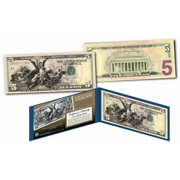 Educational Series 1896 Designed New 5 Bill Genuine
