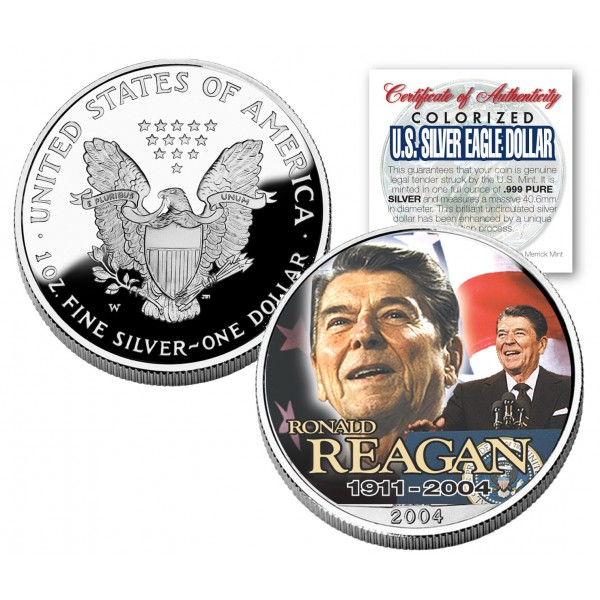 Ronald Reagan 1911 2004 American Silver Eagle Dollar 1 Oz