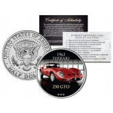 1963 FERRARI 250 GTO - Most Expensive Cars Sold at Auction - Colorized JFK Half Dollar U.S. Coin