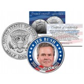 JEB BUSH FOR PRESIDENT 2016 Colorized JFK Kennedy Half Dollar U.S. Coin Political CAMPAIGN