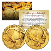 2017 24K Gold Plated $50 AMERICAN GOLD BUFFALO Indian Tribute Coin