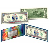 STARS & STRIPES FLAG HOLOGRAM Legal Tender US $2 Bill Currency - Limited Edition