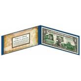 "NORTH DAKOTA State $1 Bill - Genuine Legal Tender - U.S. One-Dollar Currency "" Green """