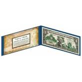 "OHIO State $1 Bill - Genuine Legal Tender - U.S. One-Dollar Currency "" Green """
