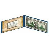 "OREGON State $1 Bill - Genuine Legal Tender - U.S. One-Dollar Currency "" Green """