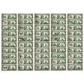 "Set of 50 STATE $1 Bills - Genuine Legal Tender - U.S. One-Dollar Currency "" Green """