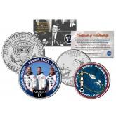 APOLLO 9 IX SPACE MISSION Colorized 2-Coin Set U.S. Florida Quarter & JFK Half Dollar - NASA ASTRONAUTS