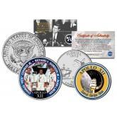 APOLLO 12 XII SPACE MISSION Colorized 2-Coin Set U.S. Florida Quarter & JFK Half Dollar - NASA ASTRONAUTS