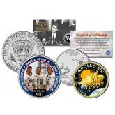APOLLO 13 XIII SPACE MISSION Colorized 2-Coin Set U.S. Florida Quarter & JFK Half Dollar - NASA ASTRONAUTS