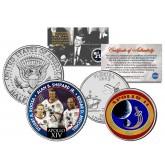 APOLLO 14 XIV SPACE MISSION Colorized 2-Coin Set U.S. Florida Quarter & JFK Half Dollar - NASA ASTRONAUTS