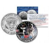 APOLLO 11 MOON LANDING - 45th Anniversary - Colorized JFK Half Dollar U.S. Coin Space NASA