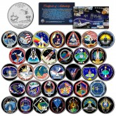 SPACE SHUTTLE ATLANTIS MISSIONS - Colorized Florida Quarters US 33-Coin Set - NASA
