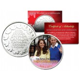 PRINCESS CHARLOTTE of Cambridge Royal Canadian Mint Medallion Coin - Prince William & Kate