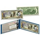 BANKSY - ANTI-WAR - Colorized $2 Bill U.S. Legal Tender - Street Art Graphitti