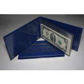 Lot of 2 CURRENCY BILL HOLDER ALBUMS holds 10 BILLS for Your Dollar US Note Collection