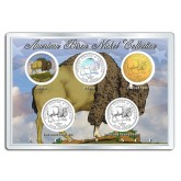 2005 AMERICAN BISON NICKEL Westward Journey 5-Coin US Set - P&D - Hologram - Colorized - 24K Gold Plated