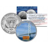 AKASHI KAIKYO BRIDGE - Famous Bridges - Colorized JFK Half Dollar US Coin Japan