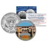PONTE VECCHIO - Famous Bridges - Colorized JFK Half Dollar U.S. Coin - Florence Italy