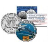 SYDNEY HARBOUR BRIDGE - Famous Bridges - Colorized JFK Half Dollar U.S. Coin Australia