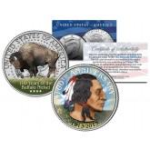2013 Buffalo Nickel - 100th Anniversary Edition - JFK Kennedy Half Dollar US Colorized Coin