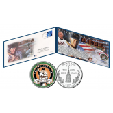 CAL RIPKEN, JR. * FAREWELL * Collection in Folio - Postmarked Final Game Envelope & Official Ripken Retirement Maryland Statehood U.S. Quarter