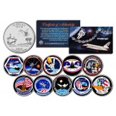 SPACE SHUTTLE CHALLENGER MISSIONS - Colorized Florida Quarters US 10-Coin Set - NASA