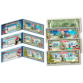 MERRY CHRISTMAS XMAS Holiday Official Keepsake Gift Colorized Legal Tender $2 U.S. Bills  - SANTA CLAUS / PENGUIN / SNOWMAN (SET OF ALL 3)