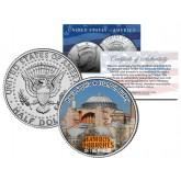 HAGIA SOPHIA - Famous Church - Colorized JFK Half Dollar US Coin Istanbul Turkey