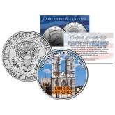 WESTMINSTER ABBEY - Famous Churches - Colorized JFK Half Dollar U.S. Coin London England