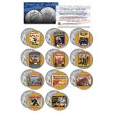 RINGLING BROS. AND BARNUM & BAILEY CIRCUS Colorized JFK Half Dollar U.S. 11-Coin Set