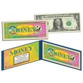 THE COLOR OF MONEY * FULL COLOR BACK * $1 Bill U.S. Genuine Legal Tender