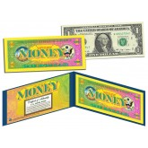 THE COLOR OF MONEY * FULL COLOR BACK * $1 Bill U.S. Genuine Legal Tender - Yellow Border - LIMITED to 10