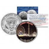 CONEY ISLAND - NIGHTTIME - Colorized JFK Kennedy Half Dollar U.S. Coin - BROOKLYN NY