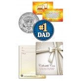 #1 DAD - World's Greatest Dad - Father's Day - JFK Kennedy Half Dollar US Coin