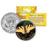 EASTERN TIGER SWALLOWTAIL BUTTERFLY JFK Kennedy Half Dollar U.S. Colorized Coin