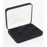 Lot of 5 Black Felt COIN DISPLAY GIFT METAL BOX for 5-Quarter or Presidential $1 or Sacagawea Dollars