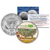 FREEDOM LAND USA Colorized JFK Kennedy Half Dollar U.S. Coin - AMUSEMENT PARK BRONX