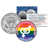 GAY PRIDE Marriage Equality Colorized 2015 JFK Half Dollar U.S. Coin LESBIAN Wedding 6/26/2015