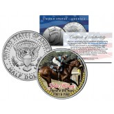 JOHN HENRY - Horse of the Year 1981 & 1984 - Thoroughbred Racehorse Colorized JFK Half Dollar US Coin
