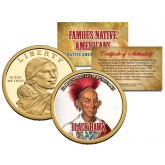 BLACK HAWK - Famous Native Americans - Sacagawea Dollar Colorized US Coin - SAUK Indians