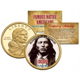 COCHISE - Famous Native Americans - Sacagawea Dollar Colorized US Coin - APACHE Indians