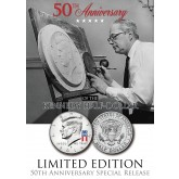 50th Anniversary - SPECIAL 50 YEARS LOGO - 2014 JFK Kennedy Half Dollar US Coin (D)