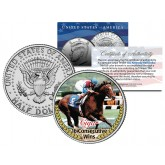 CIGAR - 16 Consecutive Wins - Thoroughbred Racehorse Colorized JFK Half Dollar US Coin