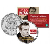 "JAMES DEAN "" Famous Quote "" JFK Kennedy Half Dollar US Coin - Officially Licensed"