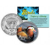 MANDARIN DUCK Collectible Birds JFK Kennedy Half Dollar Colorized U.S. Coin