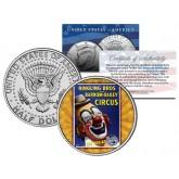 RINGLING BROS. AND BARNUM & BAILEY CIRCUS - Clown - Colorized JFK Half Dollar U.S. Coin